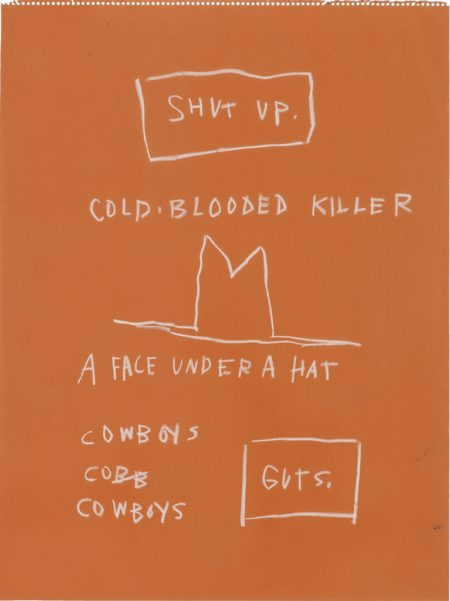 Jean-Michel Basquiat-Untitled (Cold blooded killer)-1983