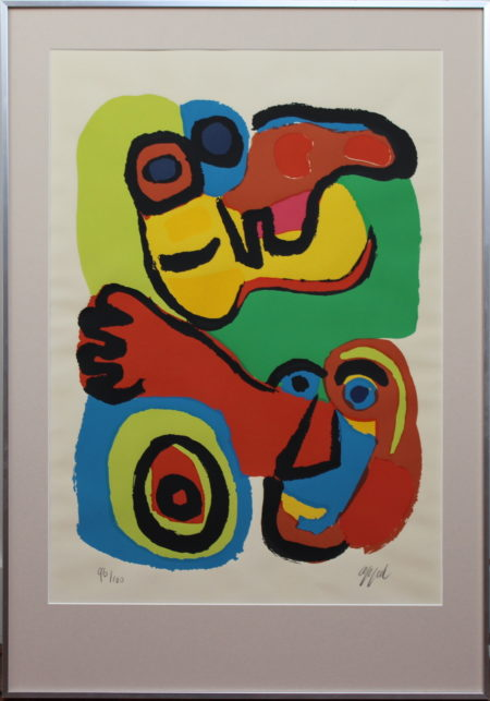 Karel Appel-Character and Child with dog-