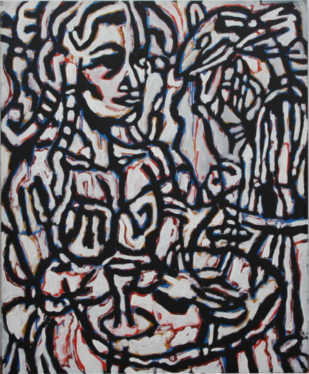Michael Winkel-Precious lady with lungfish-1984