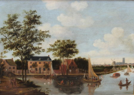 Thomas Heeremans-The Zwaanhals in Rotterdam with view of the city from the north-