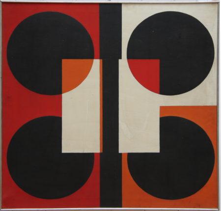 Guy Vandenbranden-Line with 4 circles-1961