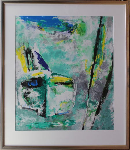 Nico Molenkamp-Abstract composition in blue and green-