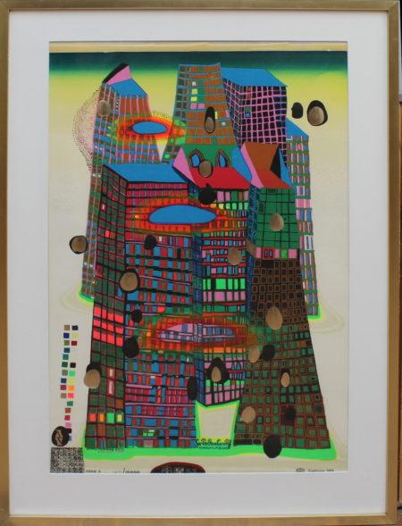 Friedensreich Hundertwasser-Good Morning Bleeding City Town-1969