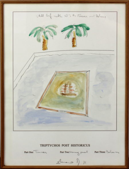 Braco Dimitrijevic-Projects for Triptychos Post Historian (Still life with WJMTurner and Palms)-1976