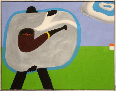 Hans Landsaat-Magritte traveling-1969