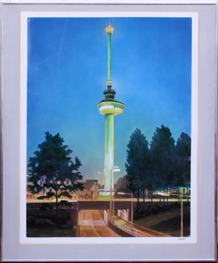 Bob Lens-Euromast by day, Euromast at night-1975