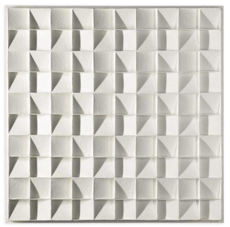 Jan Schoonhoven-Quadratenrelief Met Schuine Binnenvlakken In 4 Richtingen-1967