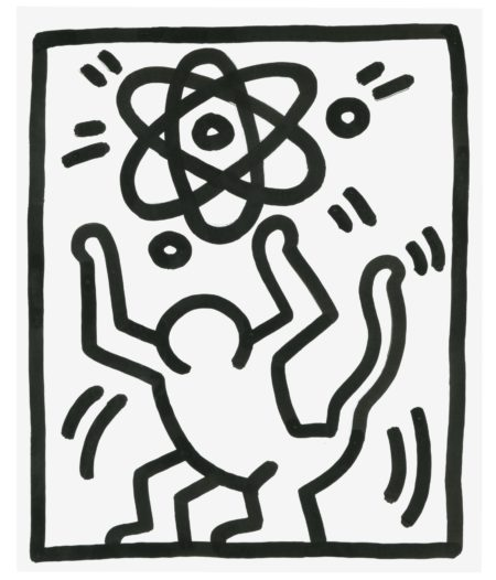Keith Haring-Untitled (3 Legged Man)-1983