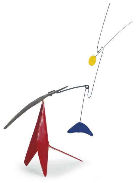 Alexander Calder-Blue Counterweight Two Spines-1975