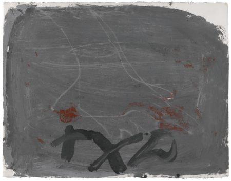 Antoni Tapies-Peu Sobre Gris-1986
