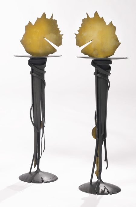 Albert Paley-Two Candlesticks-1993