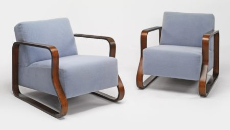 Alvar Aalto - Pair Of Lounge Chairs Model No. 44-1933