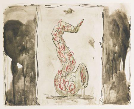 Claes Oldenburg-Soft Saxophone (Black Yellow Red) (Axsom/Platzker 239)-1992