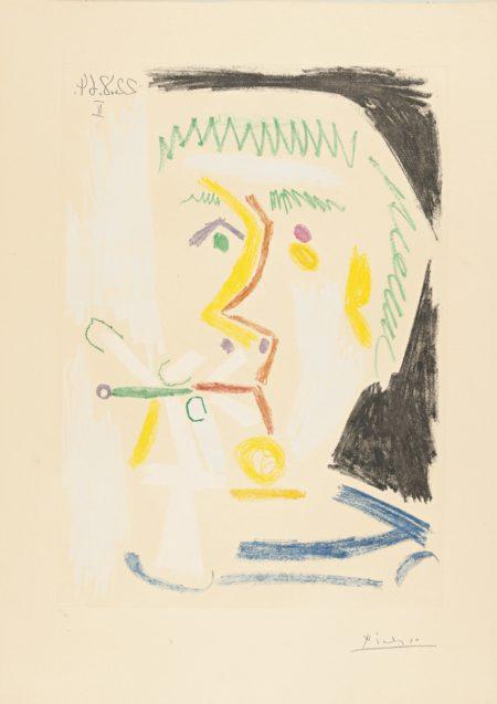Pablo Picasso-Fumeur (B. 1168; Ba. 1168)-1964