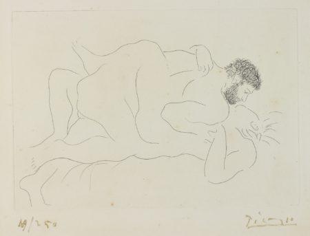 Pablo Picasso-Homme Et Femme (B. 77; Ba. 118)-1927