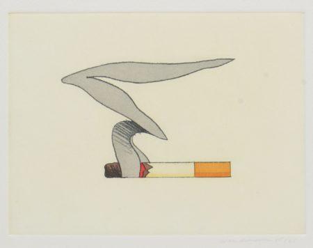 Tom Wesselmann-Smoking Cigarette #2-1991