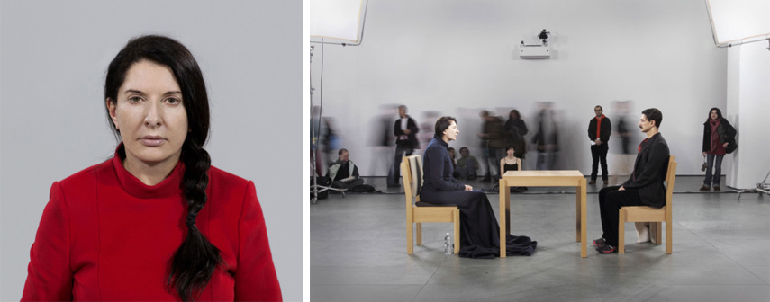 life piece home and people are issues in marina abramovic art. abramovic work lasts for hours.life enters abramovic work