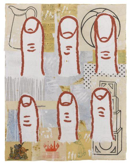 Donald Baechler-Six Fingers-1993