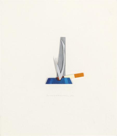 Tom Wesselmann-Smoking Cigarette In Ashtray-2000