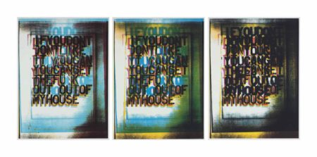 Christopher Wool-My House I II and III-2000