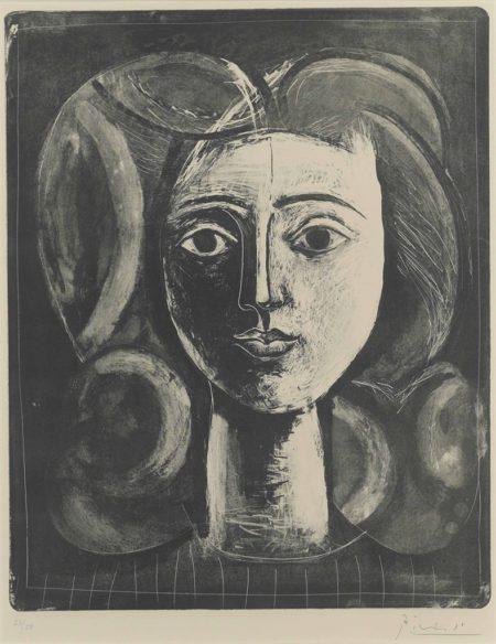 Pablo Picasso-Tête de jeune fille-1947