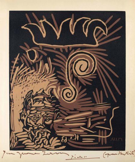 Pablo Picasso-Le vieux bouffon-1963