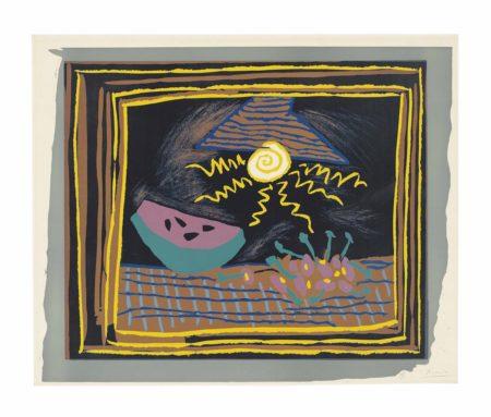 Pablo Picasso-Nature morte à la pastèque-1962