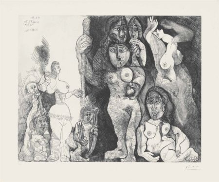 Pablo Picasso-Spectacle l'amour s'aventurant chez les femmes from: Series 156-1970