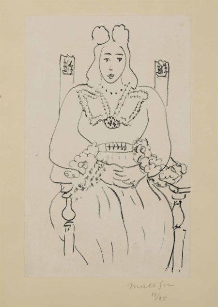 Henri Matisse-Femme assise-1943