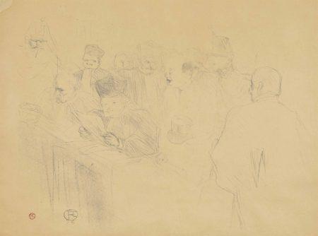 Henri de Toulouse-Lautrec-Procès Arton (W.151); Etude de Femme (W. 11); Carnot malade! (W. 12)-1896