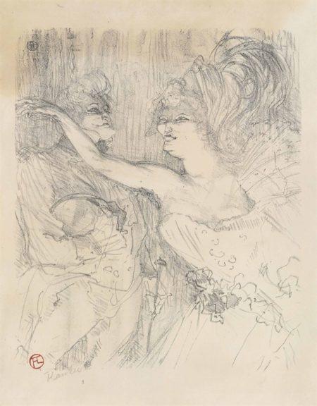Henri de Toulouse-Lautrec-Guy et Mealy dans Paris qui Marche; La modiste, Renée Vert (W. 4); Judic (W. 54)-1898