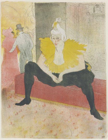 Henri de Toulouse-Lautrec-La clownesse assise (Mademoiselle CHA-U-KA-O)-1896