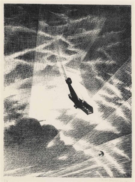 Christopher R. W. Nevinson-Swooping down on a Taube-1917