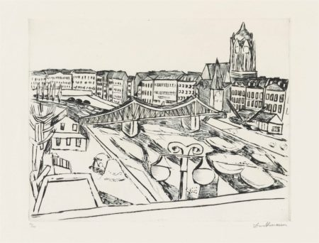 Max Beckmann-Stadtansicht mit Eisernem Steg-1923