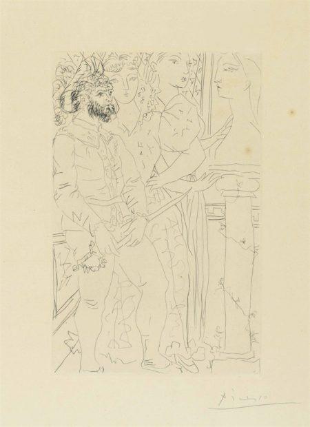 Pablo Picasso-Trois acteurs from: La Suite Vollard-1933