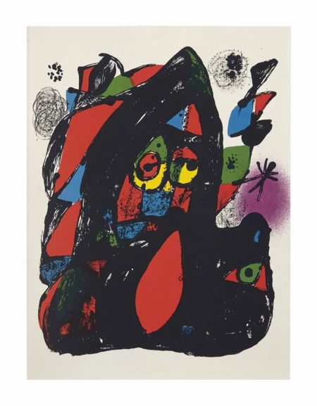 Joan Miro-Joan Miró Lithographe IV;  four lithographs from Joan Miro Lithographe I; one lithograph from Joan Miro Lithographe II-1981