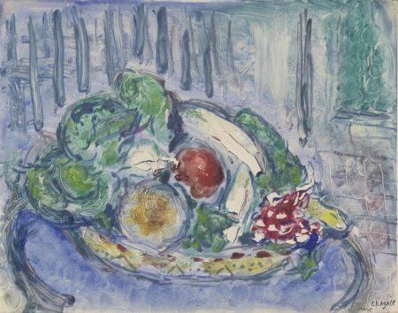 Marc Chagall-Le Guéridon Bleu-1963
