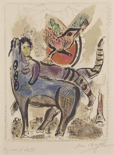 Marc Chagall-La vache bleu-1967