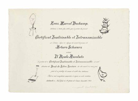 Marcel Duchamp-Arturo Schwarz: il reale assoluto-1964