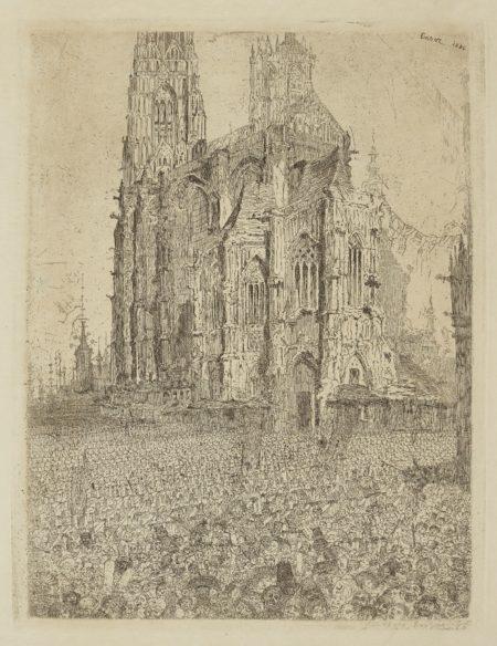 James Ensor-La CathÉDrale (D. T. E.7)-1886