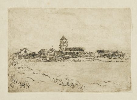 James Ensor-Petite Vue De Mariakerke(PremiÈRe Planche); Maisonnettes À Mariakerke; Le Moulin À Mariakerke(D. T. E. 16 54 71); Petite Vue De Mariakerke (DeuxiÈMe Planche)(D. T. 117; E. 122)-1900