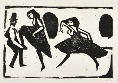 Akrobatischer Tanz. - Tanzgruppe Mann Maskiert (Gercken 436; Dube H.180)-1910