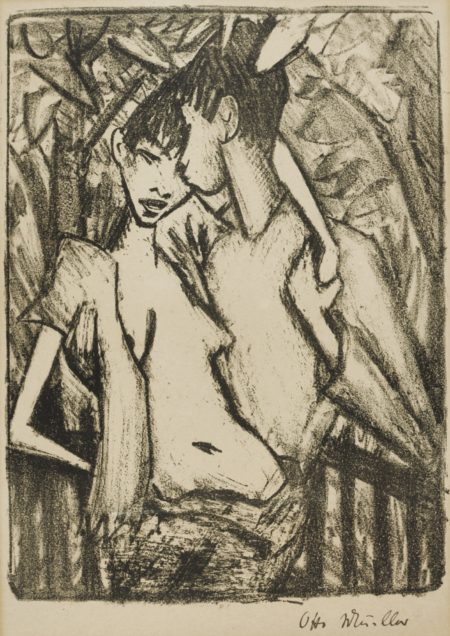 Otto Mueller-Zigeuner-Liebespaar 2 (K. 142)-1922