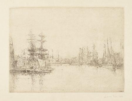 James Ensor-Vue Du Port D'Ostend; Vue D'Ostende À L'Est;Le Grand Bassin Ostende (D. T. E.39; 40; 45)-1888