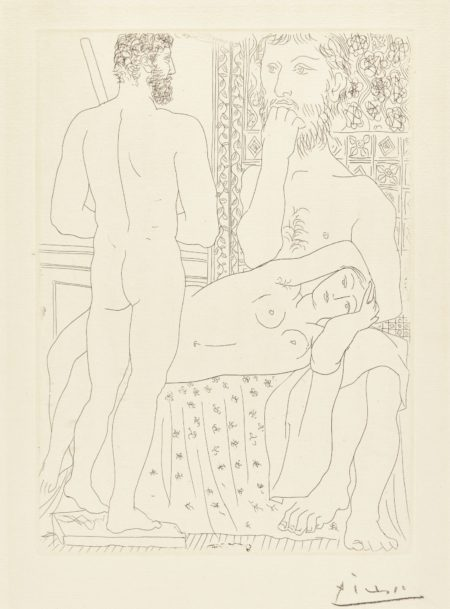 Pablo Picasso-Sculpteur ModÉLe CouchÈ Et Sculpture (B. 147; Ba. 298)-1933