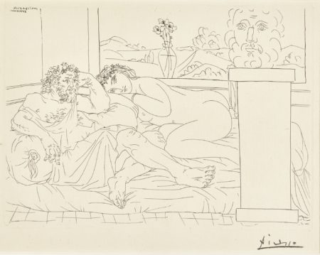 Pablo Picasso-Le Repos Du SculpteurIv (B. 174; Ba. 327)-1933