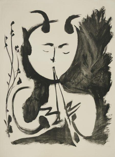 Pablo Picasso-Faune Musicien No. 4 (B. 522; Mourlot Picasso Project 115)-1948