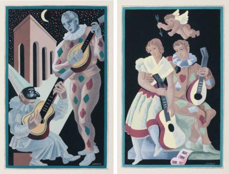After Gino Severini - Fleurs Et Masques (Meloni 56-67 69-72 74)-1930