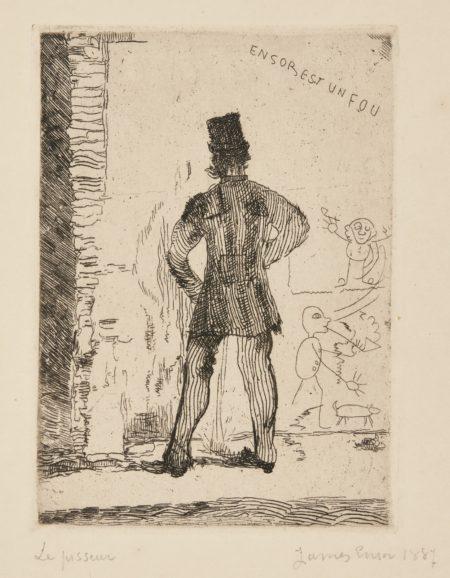 James Ensor-Le Pisseur (D. T. E.12)-1887
