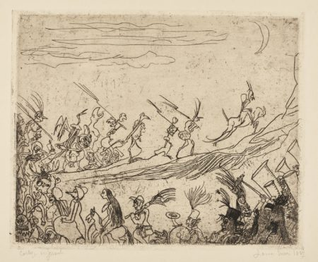 James Ensor-Le CortÈGe Infernal (D. T. 10; E. 9)-1887